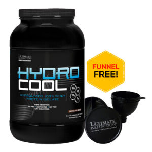 Ultimate Nutrition Hydrocool Whey Protein Isolate 3Lb + FREE UN Funnel
